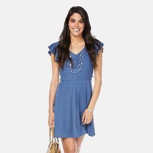 Lily White Eve Flutter Sleeve Dress XL